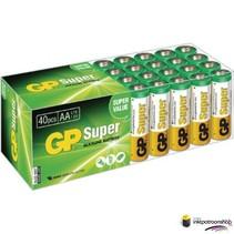 Batterij Super Alkaline box 40 AA (GP)