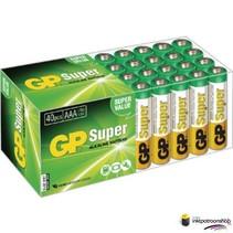 Batterij Super Alkaline box 40 AAA (GP)