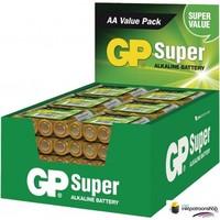 Batterij alkaline AA/LR6 1.5 V Super display 48x4 stuks (GP)
