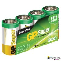 Huismerk inktpatroonshop Batterij alkaline C/LR14 1.5 V Super 4-foil (GP)