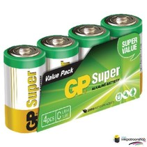Batterij alkaline C/LR14 1.5 V Super 4-foil (GP)