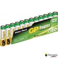 Batterij Super Alkaline batterij 12-pak AAA (GP)