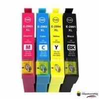 Huismerk inktpatroonshop Inktcartridges Epson T-2991 + T-2994 (29XL) set (huismerk) Bestel de 2e set met 5% korting !!
