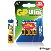 Huismerk inktpatroonshop Batterij alkaline AAA/LR03 1.5 V Ultra Plus 4-blister (GP)