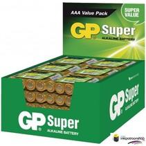 Batterij alkaline AAA/LR03 1.5 V Super display 48x4 stuks (GP)