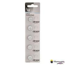 Lithium knoopcel CR1632-batterij 3 V, blister 5 stuks (HQ)