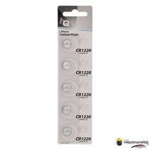Lithium knoopcel CR1220-batterij 3 V, blister 5 stuks (HQ)