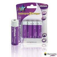 Huismerk inktpatroonshop AA lithiumbatterij 1.5 V 4-blister (HQ)