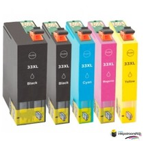 Huismerk inktpatroonshop Inktcartridge Epson T3351-T3364 (33XL) set (5 inktpatronen) (huismerk)