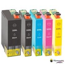 Inktcartridge Epson T3351-T3364 (33XL) set (5 inktpatronen) (huismerk)