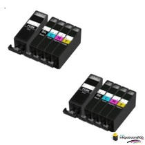 inktcartridges Canon Voordeelpakket pgi-5bk -/ cli-8 10 stuks (huismerk) met chip