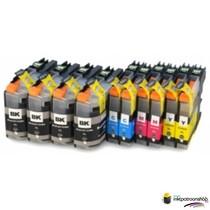 Inktcartridges Brother Voordeelpakket LC-123 10 stuks (huismerk)