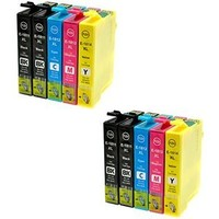 Inktcartridges Epson Voordeelpakket T-611 10 stuks (huismerk)