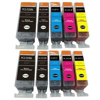 Huismerk inktpatroonshop Inktcartridges Canon Voordeelpakket pgi-525-cli-526 10 stuks (huismerk) met chip