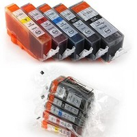 Huismerk inktpatroonshop Inktcartridges Canon Voordeelpakket pgi-520-cli-521, 10 stuks (huismerk) met chip