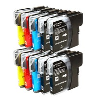 Huismerk inktpatroonshop inktcartridges Brother Voordeelpakket LC-980 - LC-1100 10 stuks (huismerk)