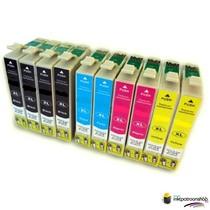 Inktcartridges Epson Voordeelpakket T-1281 10 stuks (huismerk)