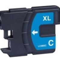 Inktcartridge Brother LC-980 / LC-1100 Cyan (huismerk)