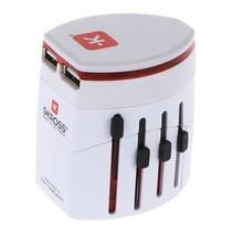 Reisadapter Wereld EVO USB Ongeaard