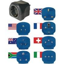 Reisadapter Wereld-naar-Europa Geaard