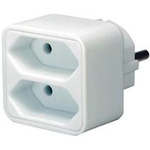 Stopcontact Splitter 2 x Euro Wit