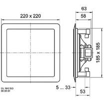 2-weg vierkante plafond- en muurluidspreker