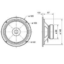 """Full-range luidspreker 17 cm (6.5"""") 8 Ohm"""