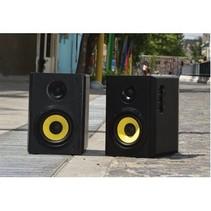Bluetooth-Speaker 2.1 Kurbis 60 W Zwart/Geel