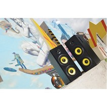 Bluetooth-Speaker 2.0 Hoch 70 W Zwart/Geel