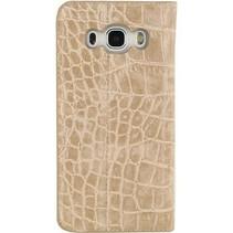 Smartphone Premium Gelly Book Case Samsung Galaxy J5 2016 Bruin