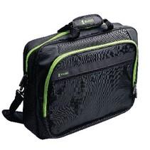 "Laptop Tas 17-18"" Polyester Zwart/Groen"