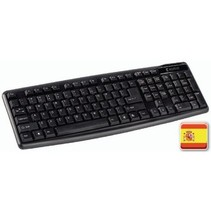 Bedraad Keyboard Multimedia USB Spaans Zwart