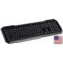 Bedraad Keyboard Multimedia USB US International Zwart