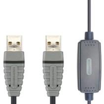 Omvormer USB A Male - USB A Male Grijs