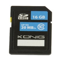 SDHC Geheugenkaart Klasse UHS-I 16 GB