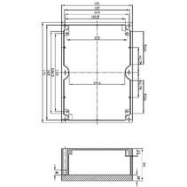 Electriciteit Behuizing Aluminium Legering Aluminium 171 x 121 x 55 mm