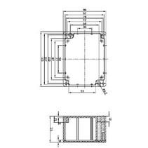 Electriciteit Behuizing Aluminium Legering Aluminium 115 x 90 x 55 mm