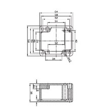 Electriciteit Behuizing Aluminium Legering Aluminium 64 x 58 x 35 mm