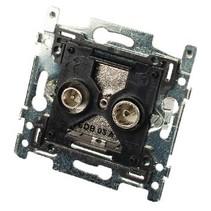 Antenne Wandcontactdoos (Doorvoer) - Zwart/Zilver 1.5 dB