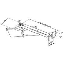 Projector Muurbeugel Draai- en Kantelbaar 10 kg Zilver