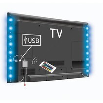 USB TV-mood light LED 2 strips 50 cm RGB met afstandsbediening