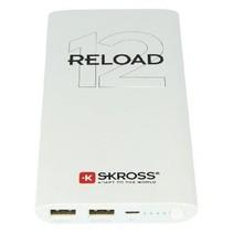 Draagbare Powerbank 12000 mAh USB Wit