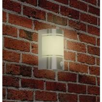 Wandlamp Buiten 20 W Incl. Bewegingssensor Geborsteld Staal