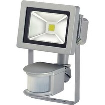 LED Floodlight met Sensor 10 W 700 lm Grijs