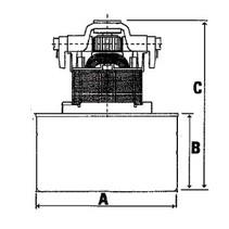 Stofzuiger motor 1000 W nat / droog universeel