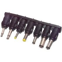 Universele Stroom Adapter Reservestekker Jack 3.5mm / Jack 2.5mm / 3.50 x 1.35 mm / 5.00 x 2.10 mm / 5.50 x 2.50 mm / 2.35 x 0.75 / 4.00 x 1.70 mm