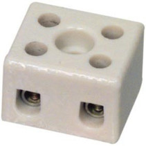 Kroonsteen 1.50 mm² 2 - Polig Keramiek Wit