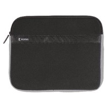"Laptop Sleeve 17-18"" Neopreen Zwart/Antraciet"