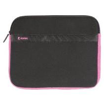 """Laptop Sleeve 15-16"""" Neopreen Zwart/Roze"""