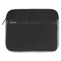 "Laptop Sleeve 15-16"" Neopreen Zwart/Antraciet"